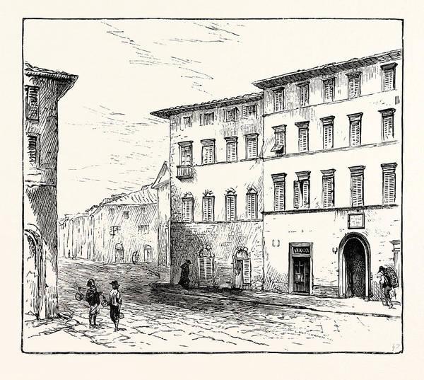 Wall Art - Drawing - Casa Guidi Florence by English School