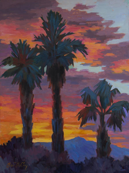 La Quinta Wall Art - Painting - Casa Tecate Sunrise 2 by Diane McClary
