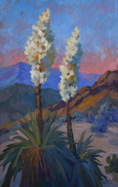 La Quinta Wall Art - Painting - Casa Tecate Yuccas by Diane McClary