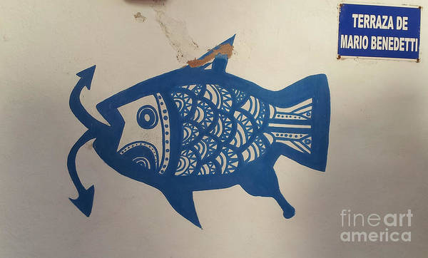 Wall Art - Photograph - Casapueblo Blue Fish - Punta Del Este by Drawspots Illustrations