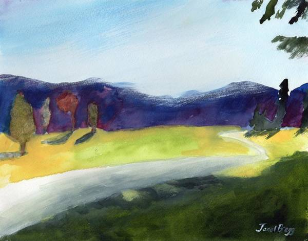 Skagit Valley Painting - Cascade Foothills In Watercolor by Janel Bragg