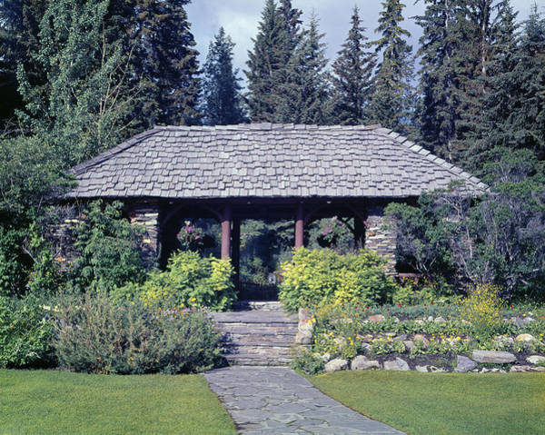 Photograph - 1m3319-cascade Gardens In Banff by Ed  Cooper Photography