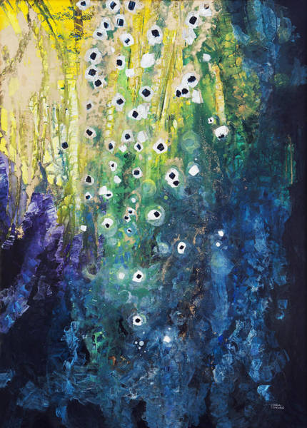 Tara Painting - Cascading Colors by Tara Thelen