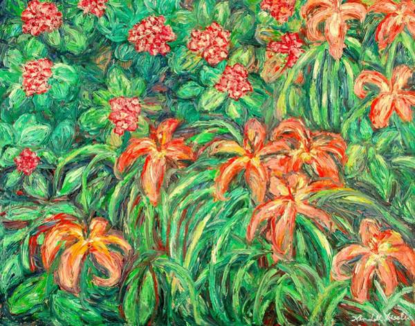 Painting - Cascading Day Lilies by Kendall Kessler
