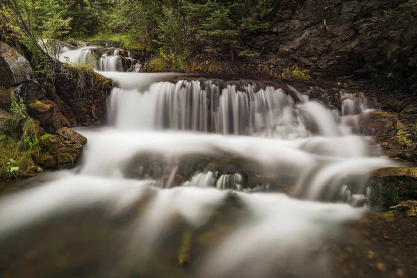 Canmore Photograph - Cascading Waterfall, Hidden Falls by Panoramic Images