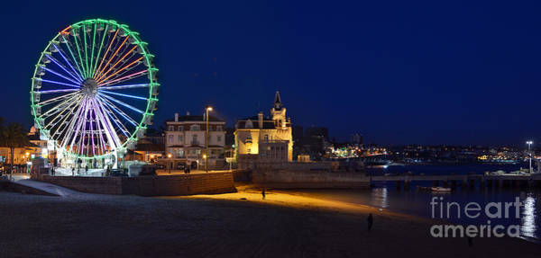 Photograph - Cascais By Night - Portugal by Carlos Alkmin