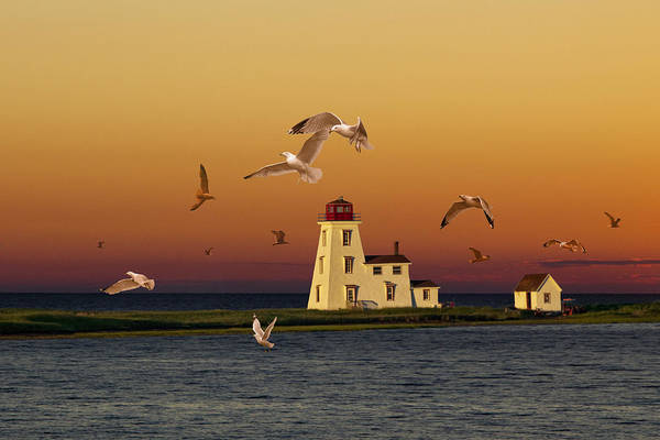 Photograph - Cascumpec Lighthouse On Prince Edward Island by Randall Nyhof