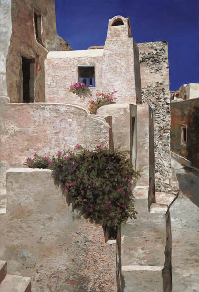Wall Art - Painting - case a Santorini by Guido Borelli