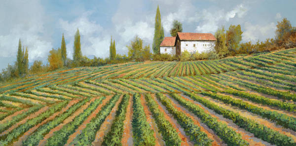 Harvest Wall Art - Painting - Case Bianche Nella Vigna by Guido Borelli