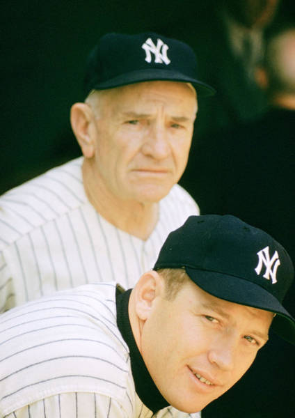Skipper Photograph - Casey Stengel And Mickey Mantle by Retro Images Archive