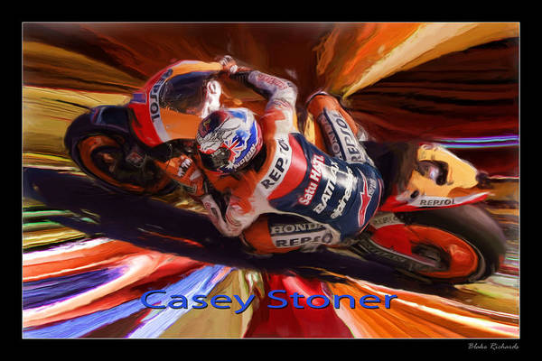 Photograph - Casey Stoner From Above by Blake Richards