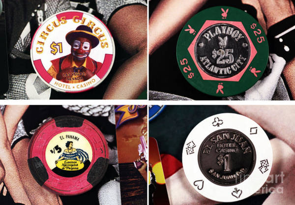 Photograph - Casino Chips Collage by John Rizzuto