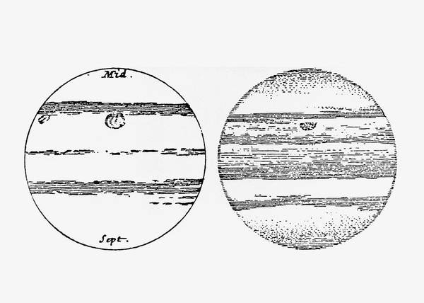 Wall Art - Photograph - Cassini's Drawings Of Jupiter's Red Spot by Science Photo Library
