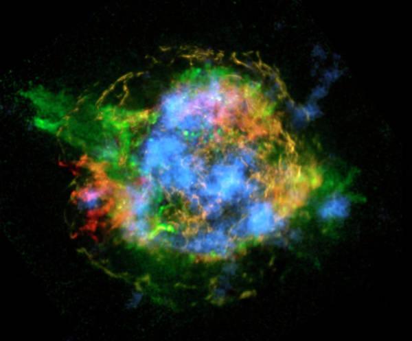 Astrophysical Wall Art - Photograph - Cassiopeia A by Nasa/jpl-caltech/cxc/sao