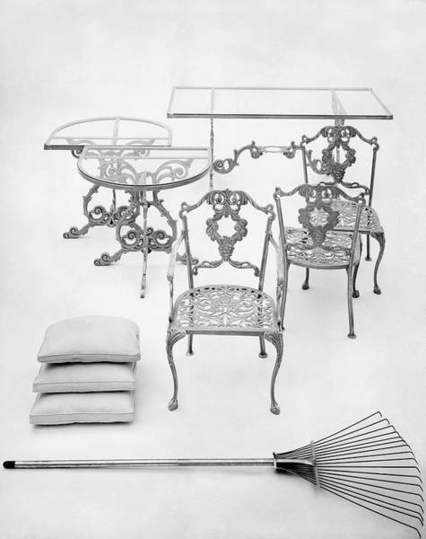 Rake Photograph - Cast Aluminum Furniture By Molla by Haanel Cassidy