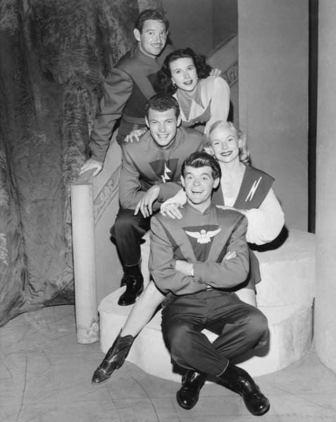 1953 Photograph - Cast Of Space Patrol by Underwood Archives