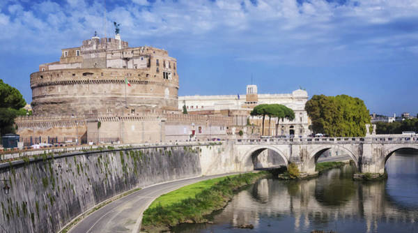 Fortification Photograph - Castel Sant Angelo by Joan Carroll