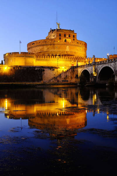 Photograph - Castel Sant'angelo And The Tiber River by Fabrizio Troiani