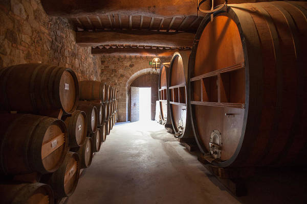 Photograph - Castelle Di Amorosa Barrel Room by Scott Campbell