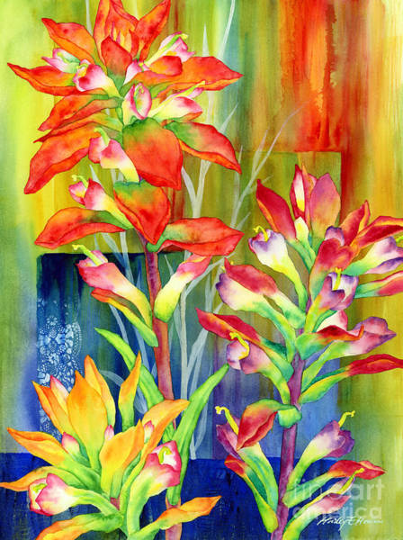 Wall Art - Painting - Castilleja Indivisa by Hailey E Herrera