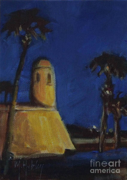 Wall Art - Painting - Castillo At Night by Mary Hubley