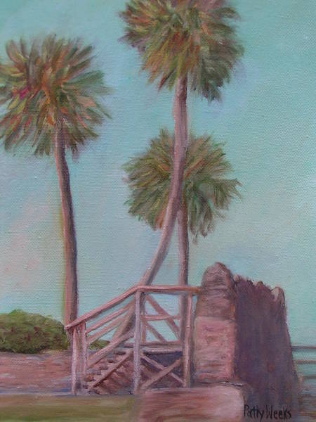Weeks Bay Painting - Castillo Bayside View by Patty Weeks