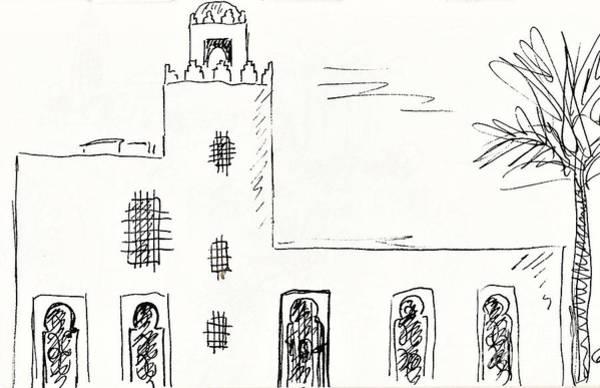 Drawing - Castillo Bil Bil In Benalmadena  by Chani Demuijlder