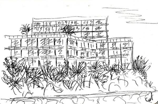 Drawing - Castillo De Santa Clara In Torremolinos by Chani Demuijlder