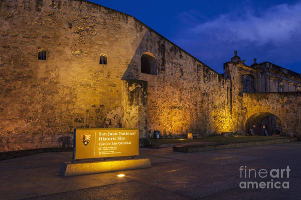 Photograph - Castillo San Cristobal In Old San Juan Puerto Rico by Bryan Mullennix