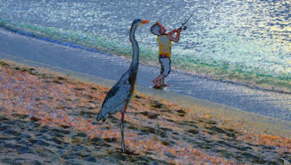Captiva Island Painting - Casting In Captiva by David Lee Thompson