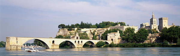 Rhone River Photograph - Castle At The Waterfront, Pont by Panoramic Images