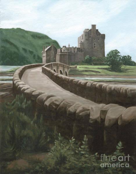 Eilean Donan Castle Painting - Castle Eilean Donan Of Scotland by Kim Victoria