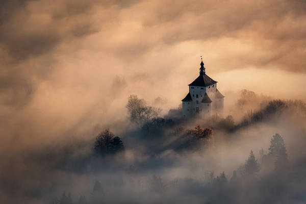 Slovakia Photograph - Castle In Fire by Peter Kov??ik