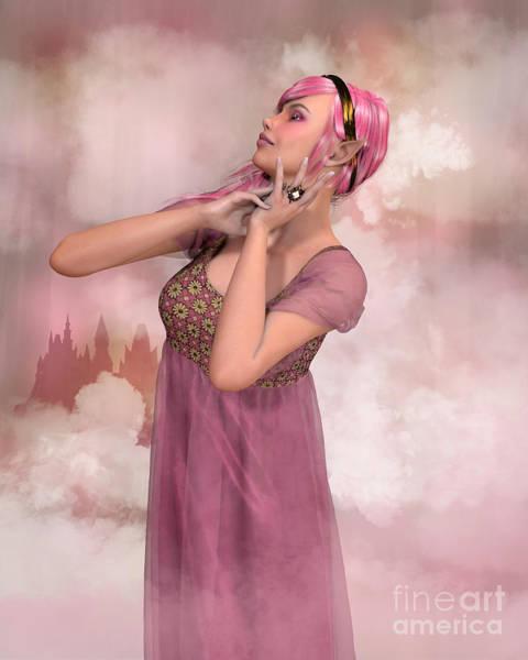 Digital Art - Castle In The Clouds by Elle Arden Walby