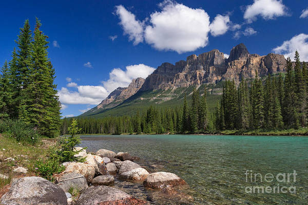 Photograph - Castle Mountain And The Bow River by Charles Kozierok