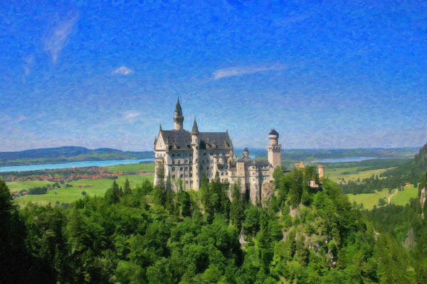 Painting - Castle Neuschwanstein Ger5173 by Dean Wittle