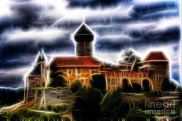 Czech Digital Art - castle of the holy order - Sovinec by Michal Boubin