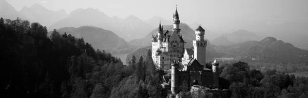 Peacefulness Photograph - Castle On A Hill, Neuschwanstein by Panoramic Images