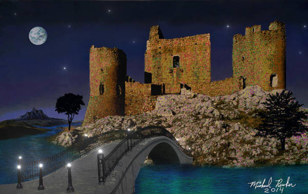 Painting - Castle Ruins by Michael Rucker