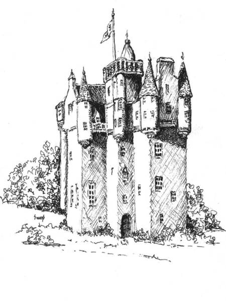 Drawing - Castle by Sam Sidders
