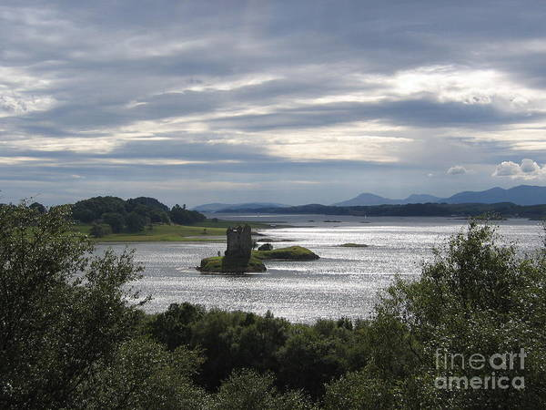Photograph - Castle Stalker On Loch Laiche by Denise Railey