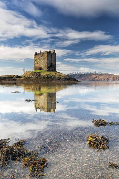 Photograph - Castle Stalker by Grant Glendinning