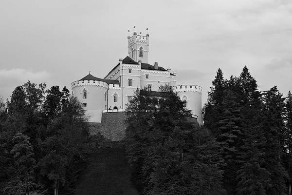 Photograph - Castle Trakoscan Bw by Ivan Slosar
