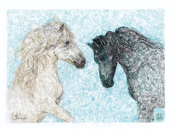 Horsemanship Painting - Castor And Pollux by Jerry Kool
