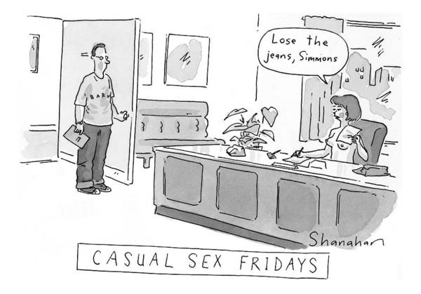 July 13th Drawing - Casual-sex Fridays by Danny Shanahan