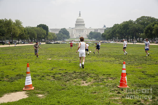 Photograph - Casual Soccer Game On The Mall In Washington Dc by William Kuta