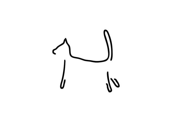 Lineart Drawing - Cat As A Silhouette by Lineamentum
