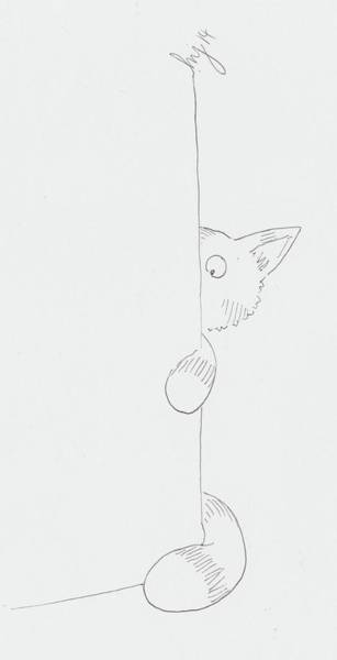 Drawing - Cat Cartoon by Mike Jory