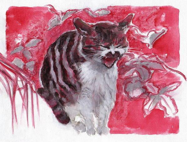 Cat Complains  Art Print