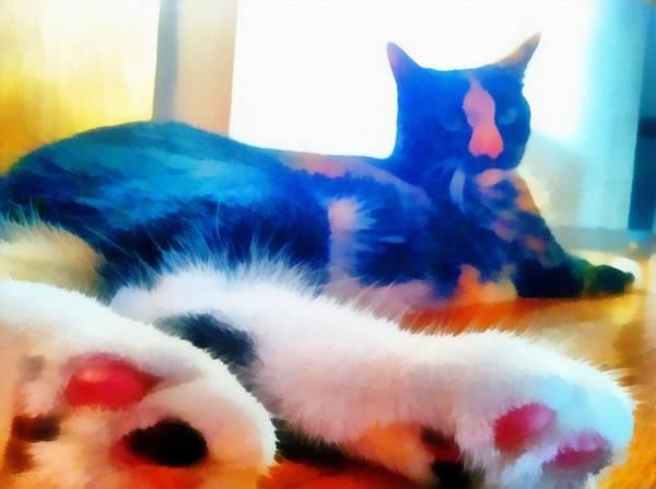 Painting - Cat Feet by Derek Gedney